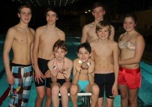 Ein Teil unserer erfolgreichen Schwimmer auf Kreisebene